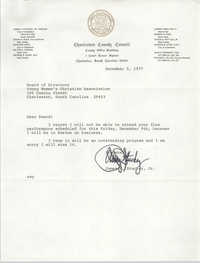 Letter from James A. Stuckey, Jr. to Board of Directors for the Y.W.C.A. of Greater Charleston, December 5, 1977