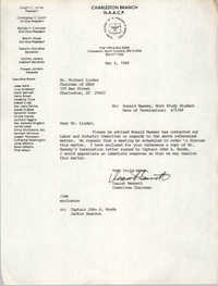 Letter from Isaiah Bennett to Michael Linder, May 4, 1989