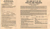 In's and Out's of IRS Practice and Procedure, Satellite Video/CLE Seminar Pamphlet, October 28, 1985