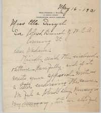 Letter from Frances J. Bulow to Ella L. Smyrl, May 16, 1931