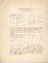Monthly Report for the Coming Street Y.W.C.A., April 1938