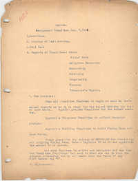 Agenda, Management Committee of the Coming Street Y.W.C.A., January 7, 1920