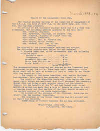 Report of the Management Committee, Coming Street Y.W.C.A., March 5, 1920