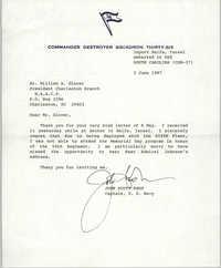 Letter from John Scott Redd to William A. Glover, June 3, 1987