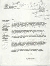 Draft, Letter from D. Cedric James, Charleston Branch of the NAACP, July 17, 1987