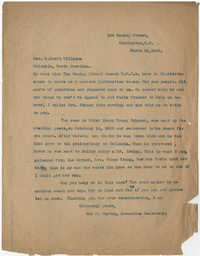 Letter from Ada C. Baytop to G. Croft Williams, March 28, 1922