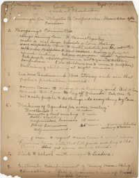 Outline for Coming Street Y.W.C.A. Work, September 7, 1920