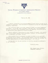 Letter from Mrs. Joseph King, February 28, 1966