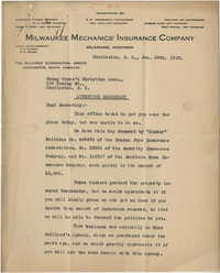 Letter from The Gilchrist Corporation to Young Women's Christian Association, January 29, 1923