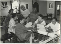 Photograph of People Quilting