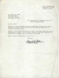 Letter from Leonard J. Johnson to Delbert L. Woods, January 28, 1983