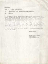 Draft, Memorandum, Dwight Cedric James, 1988