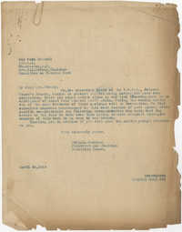 Letter from Felicia Goodwin to War Work Council, Coming Street Y.W.C.A., April 24, 1919