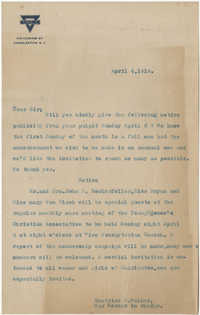 Letter from Beatrice D. Walker, April 4, 1919