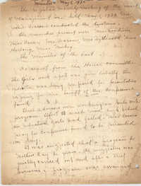 Minutes to the Board of Management, Coming Street Y.W.C.A., May 8, 1922