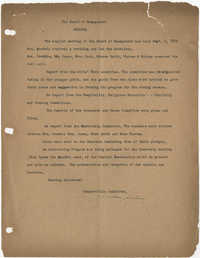 Minutes to the Board of Management, Coming Street Y.W.C.A., September 5, 1922