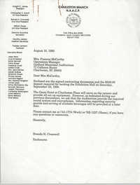 Letter from Brenda Cromwell to Frances McCarthy, August 10, 1990