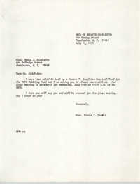 Letter from Vivian E. Frader to Sadie J. Middleton, July 27, 1979