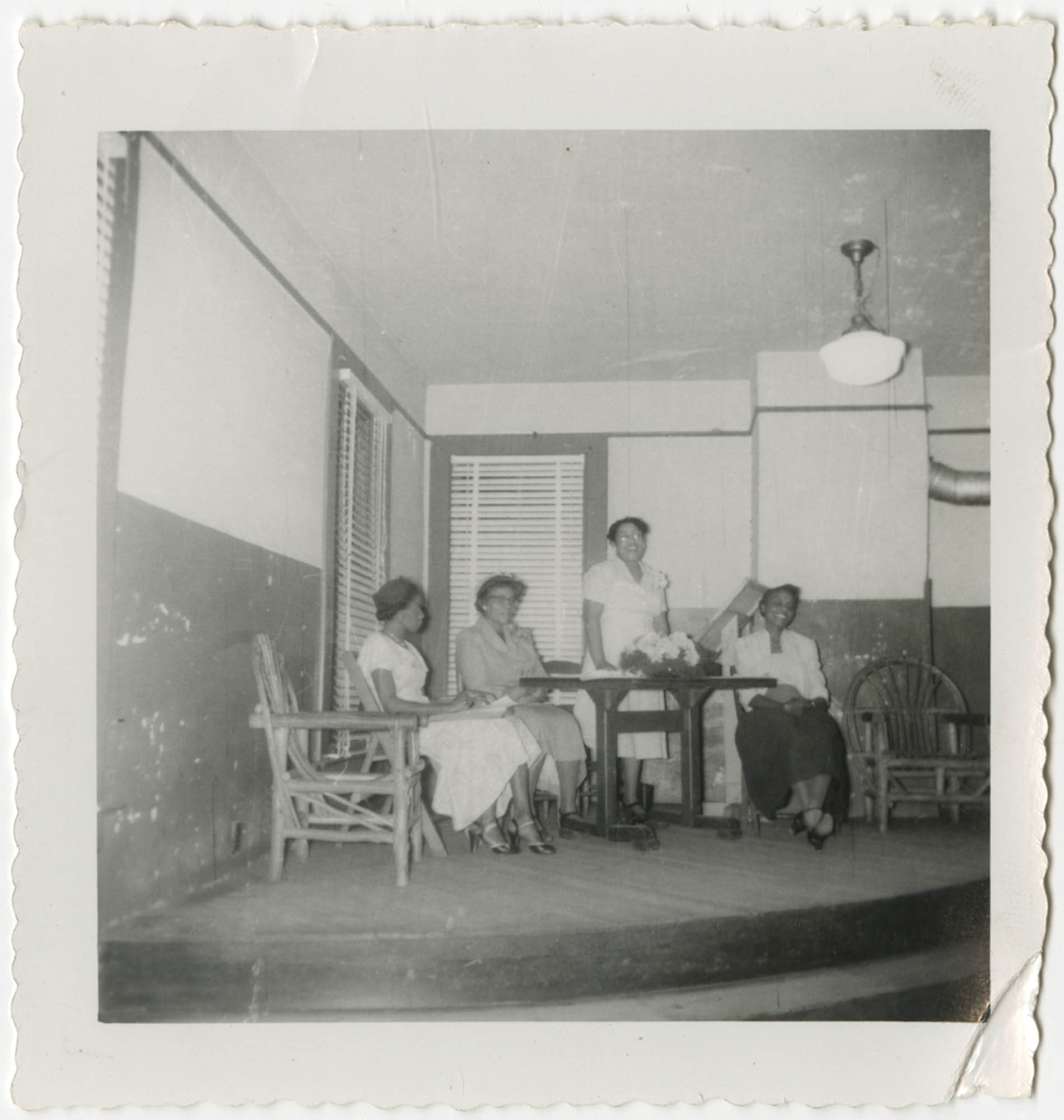 Photograph of Mrs. Giles Brown, Hattie Watson, Septima P. Clark, and Lucille Williams