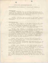 Resolutions and Recommendations, 1942 Southern Area Business and Professional Conference