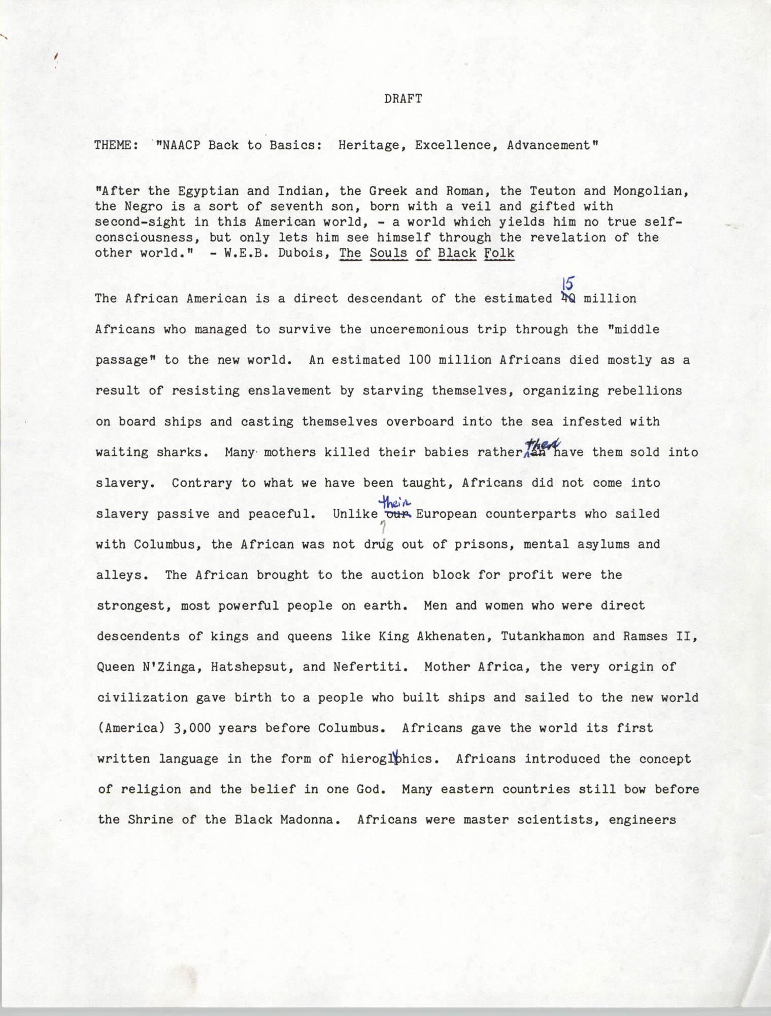 Draft, Speech, Roy I. Jones