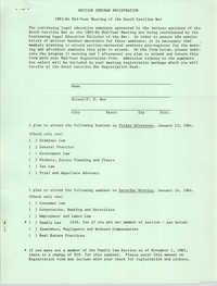 1983-84 Mid-Year Meeting of the South Carolina Bar, Seminar Registration