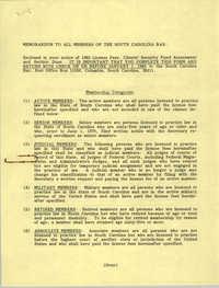 Memorandum, South Carolina Bar, 1983