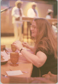 Photograph of a Woman Eating