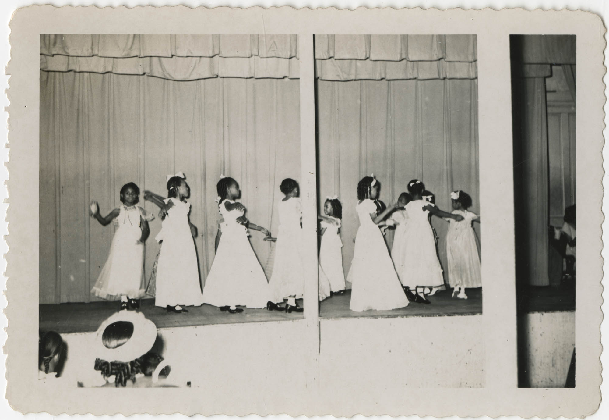 Photograph of Girls Dancing in White Dresses