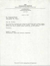 Letter from Brenda C. Murphy to Vermelle Miller, June 4, 1993
