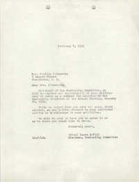 Letter from Laura McFall to Lucille Poinsette, February 8, 1951