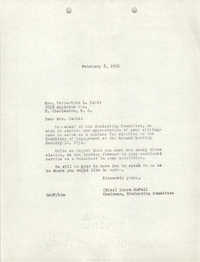 Letter from Laura McFall to Verbertine L. Davis, February 8, 1951