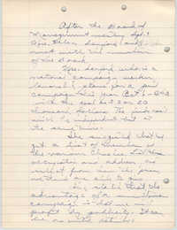 Minutes to the Board of Management, Coming Street Y.W.C.A., September 9, 1941