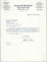 Letter from Mendel J. Davis to William Saunders, June 22, 1979