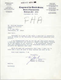Letter from Mendel J. Davis to William Saunders, September 28, 1978