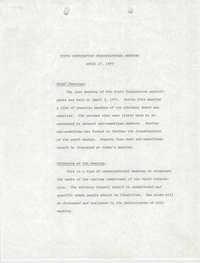 Youth Corporation Advisory Council Organization Meeting, April 17, 1979