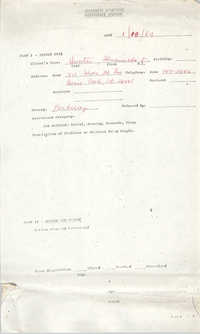 Community Relations Assistance Request, January 18, 1984