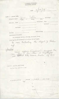 Community Relations Assistance Request, July 25, 1984