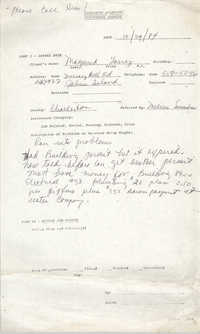 Community Relations Assistance Request, October 29, 1984