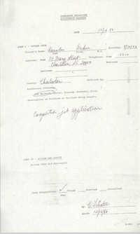 Community Relations Assistance Request, December 16, 1986