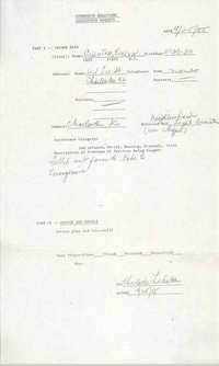 Community Relations Assistance Request, April 25, 1985