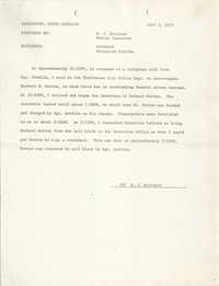 Memorandum, July 7, 1975