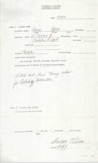 Community Relations Assistance Request, November 27, 1984