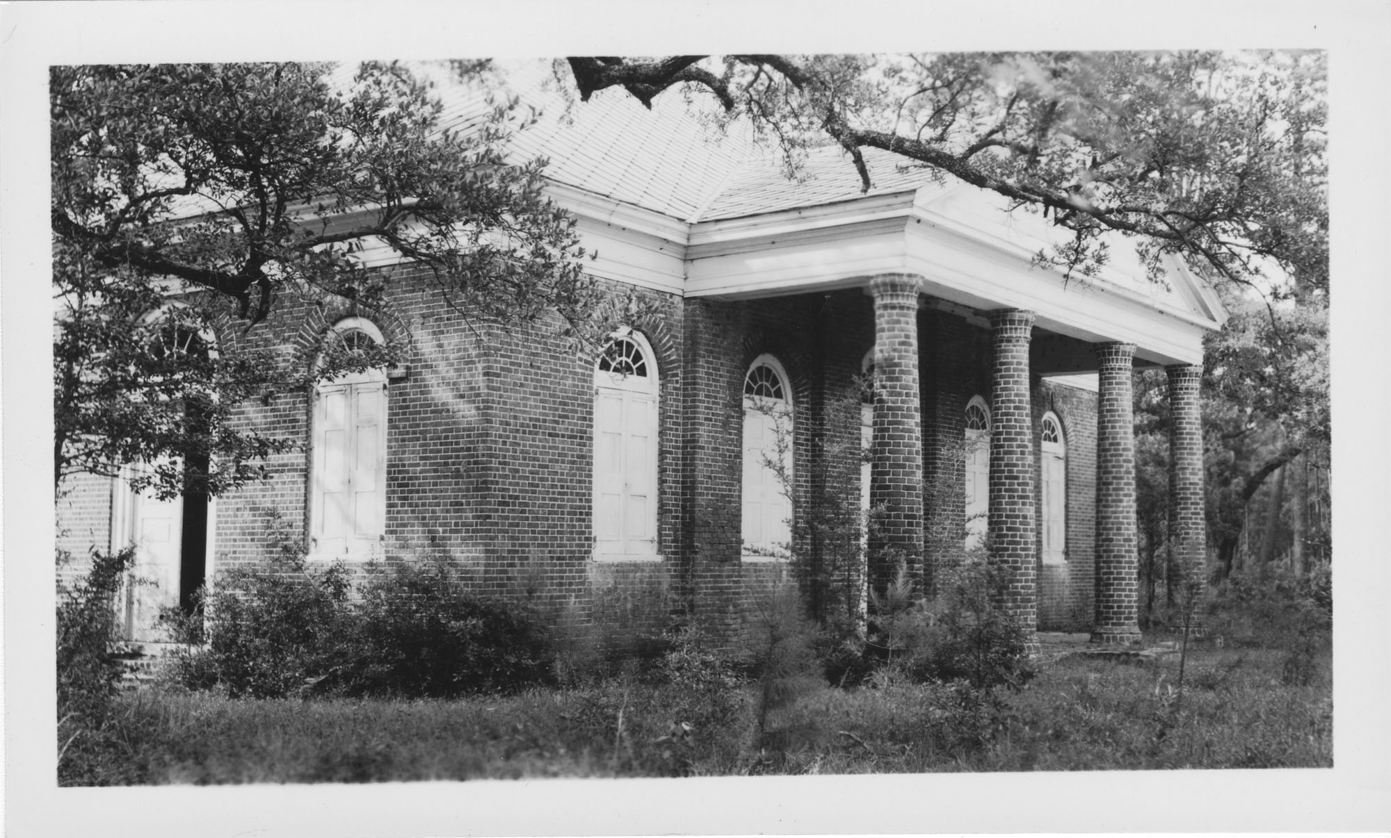 Side Angle of Greek Revival Bungalow