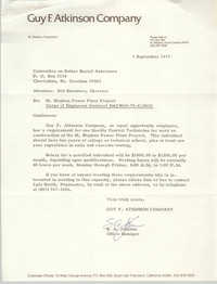 Letter from S. A. Johnson to William Saunders, September 6, 1979