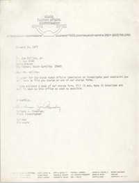 Letter from Barbara J. Pressley to Joe Collins, Jr., January 31, 1977