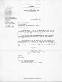 Letter from J. Arthur Brown to Lucille Floyd, February 25, 1977