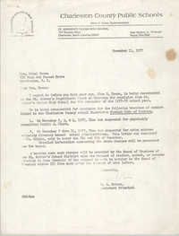 Letter from G. E. Schoen to Ethel Brown, November 11, 1977
