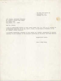 Letter from Ethel Brown to G. E. Schoen, November 11, 1977