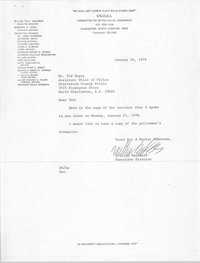 Letter from William Saunders to Ted Meyer, January 24, 1978